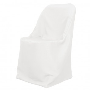 Polyester Folding Chair Cover-White