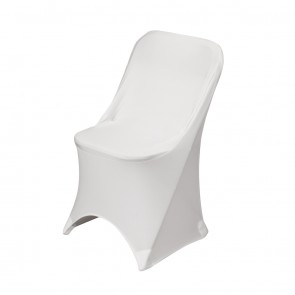 Stretch Folding Chair Cover-White