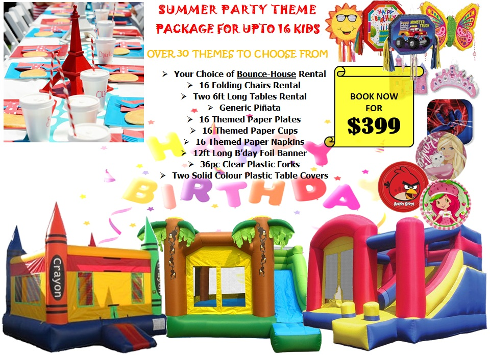Summer Party Theme Package For Upto 16 Kids-BOOK NOW!